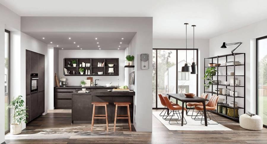 Mobilă de bucătărie modernă Nobilia Speed - Beton Negru