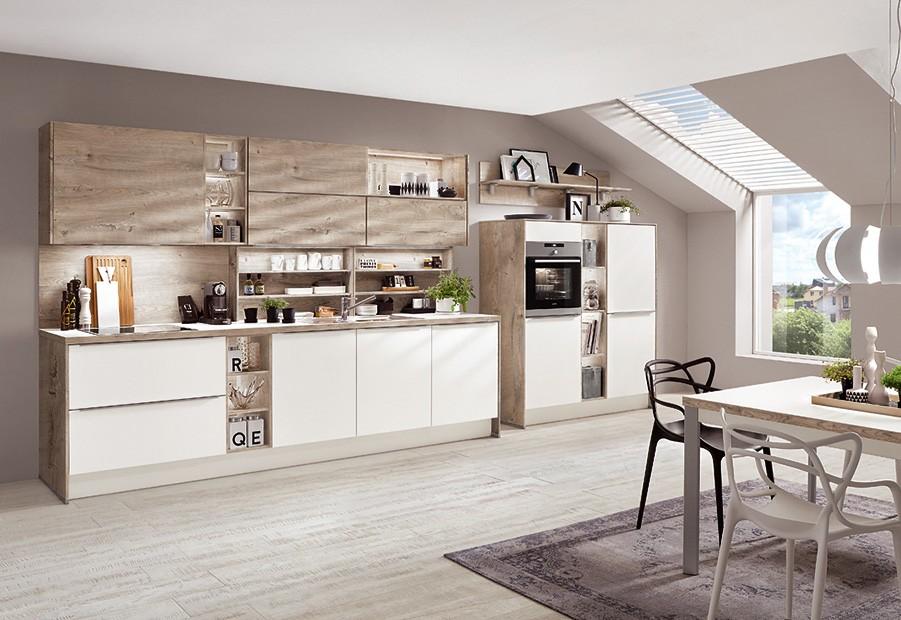 Mobilă de bucătărie modernă Nobilia Color Concept - Stejar Havellend