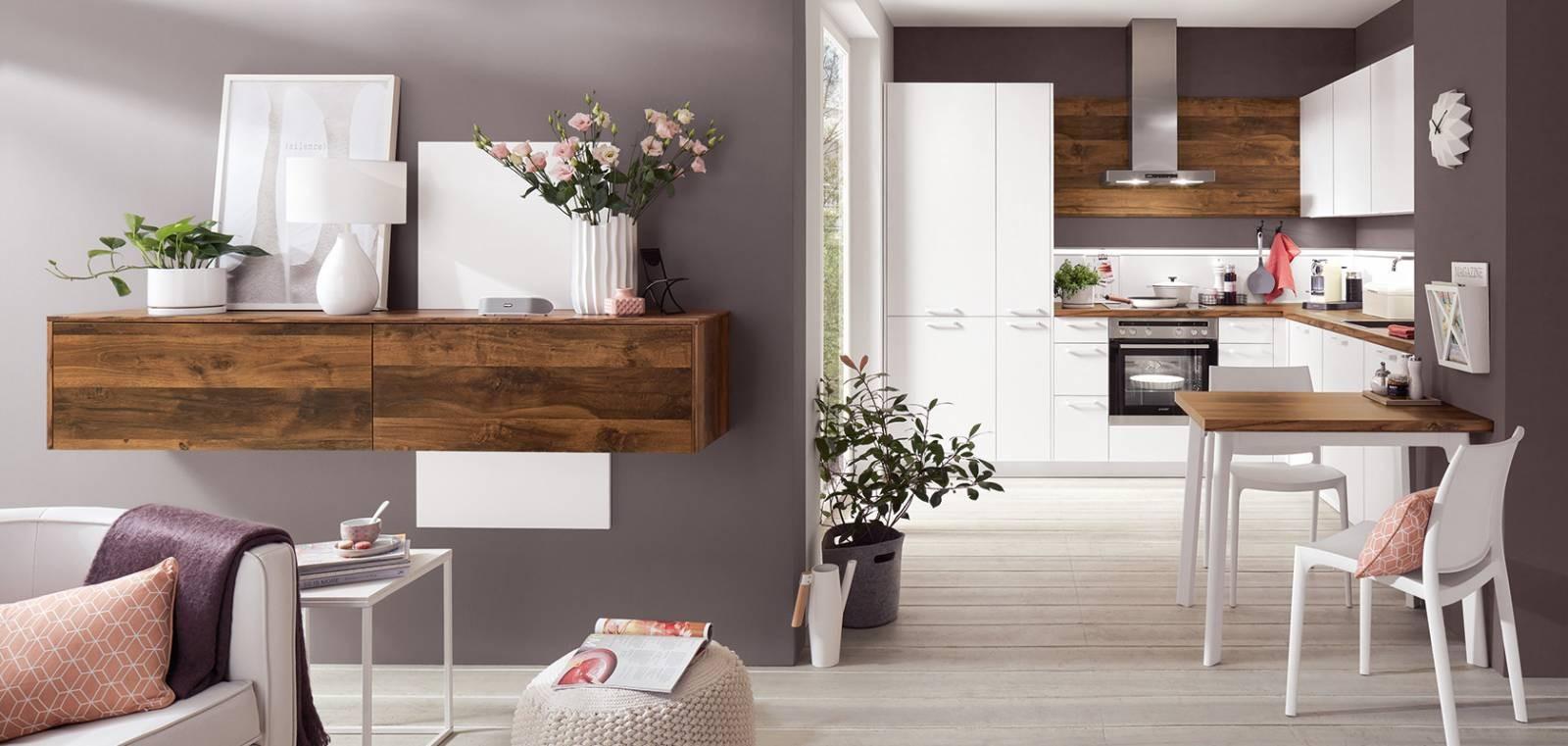 Mobilă de bucătărie modernă Nobilia Color Concept - Stejar Timber
