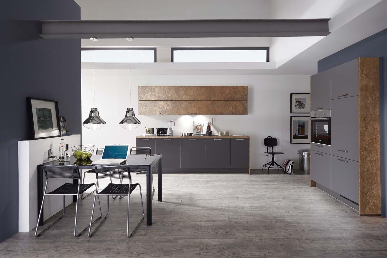 Mobilă de bucătărie modernă Nobilia Color Concept - Decor Ferro Bronze