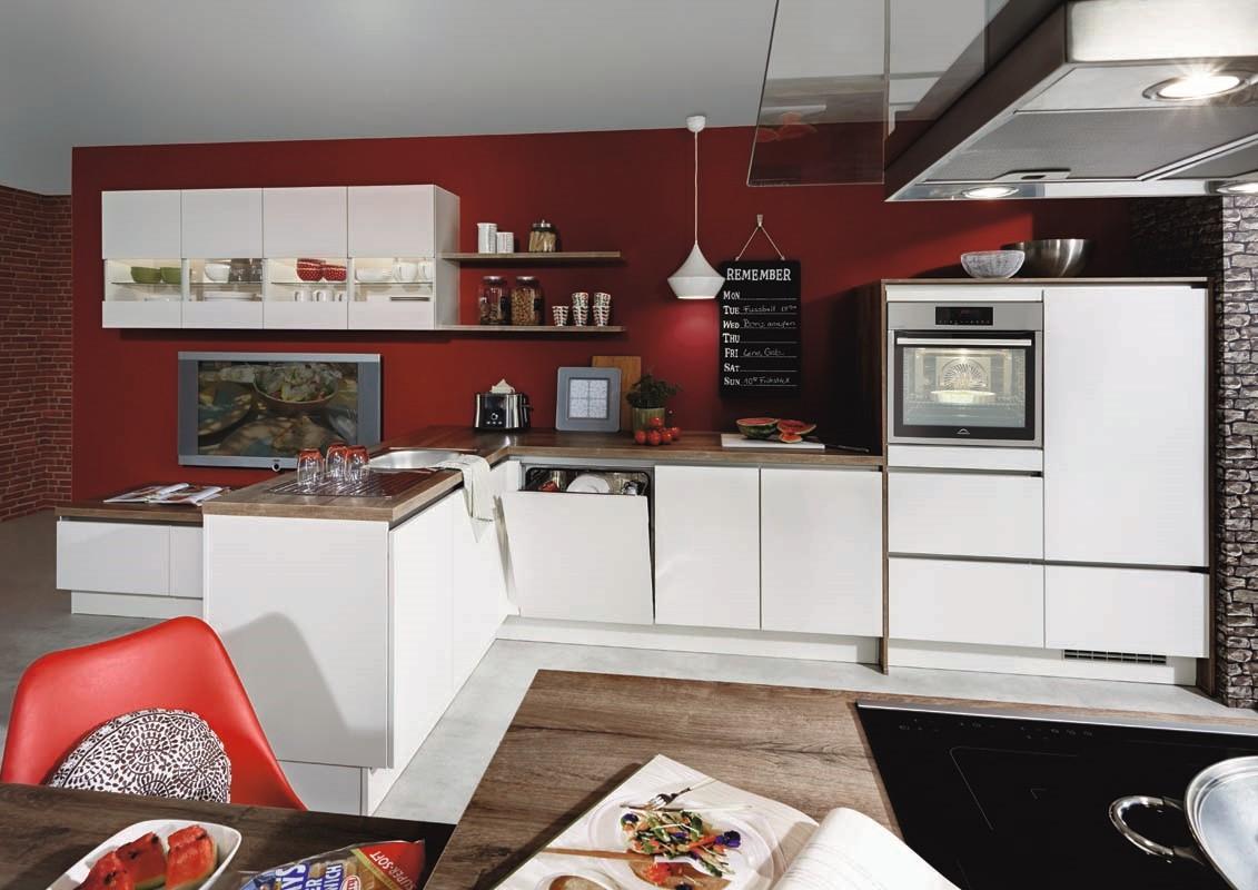 Mobilă de bucătărie modernă Nobilia Laser - Alb
