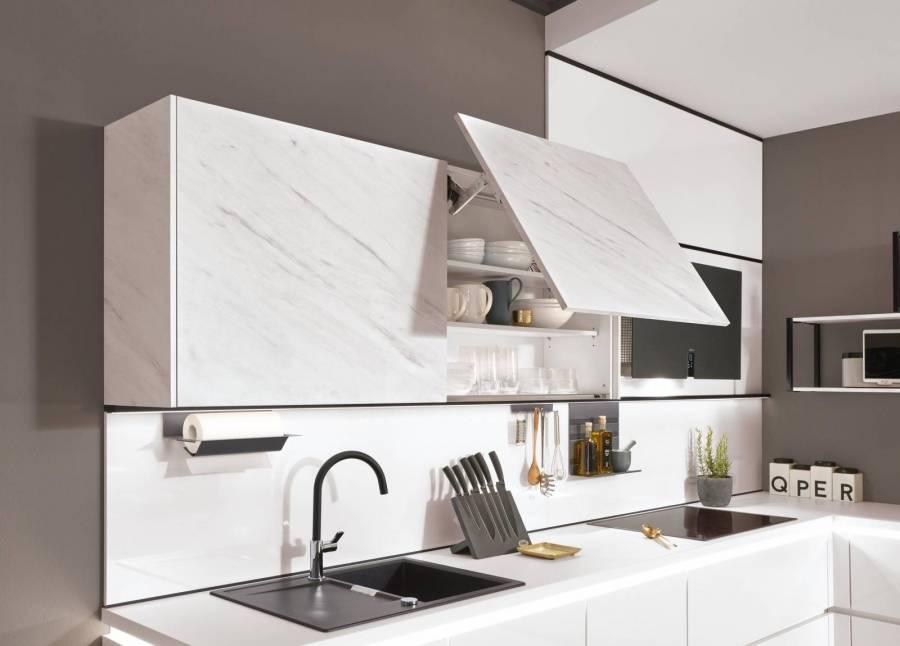 Mobilă de bucătărie modernă Nobilia Color Concept - Marmură Carrara
