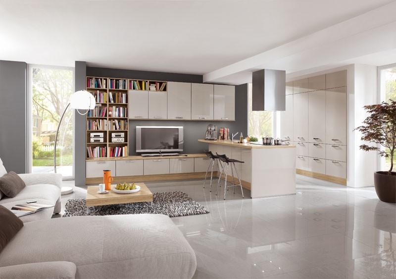 Mobilă pentru living / camera de zi Nobilia Lux - Nisip Lucios