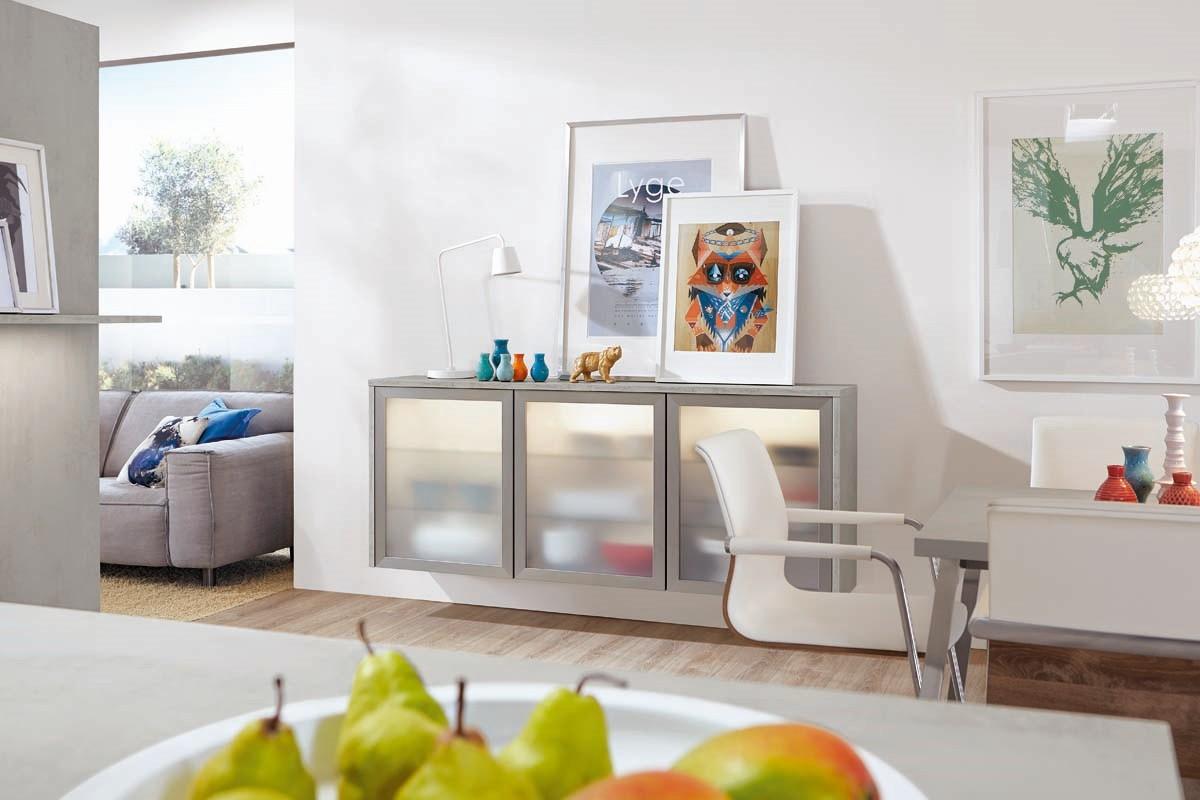 Mobilă pentru living / camera de zi Nobilia Riva - Beton gri