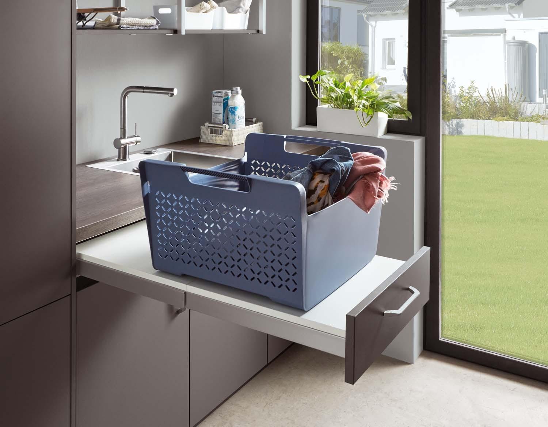 Mobilă pentru zona de spălat rufe Nobilia Touch - Gri ardezie