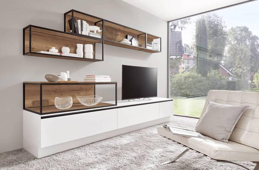Mobilă pentru living / camera de zi Nobilia Fashion - Alb alpin mat