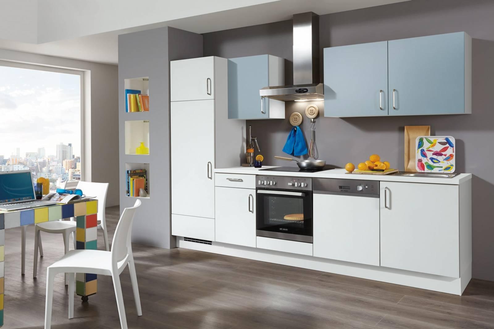 Mobilă de bucătărie modernă Nobilia Speed - Alb mat