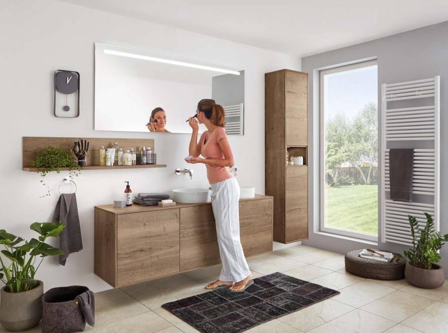 Mobilier modern pentru baie Nobilia Structura - Stejar Havana