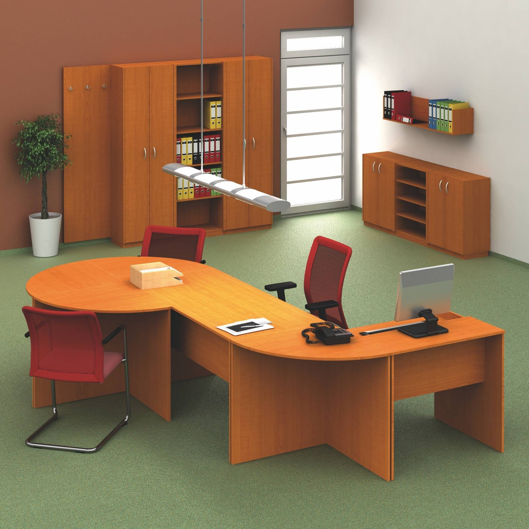 Mobilier de birou Tempo Assistent New - Cireș
