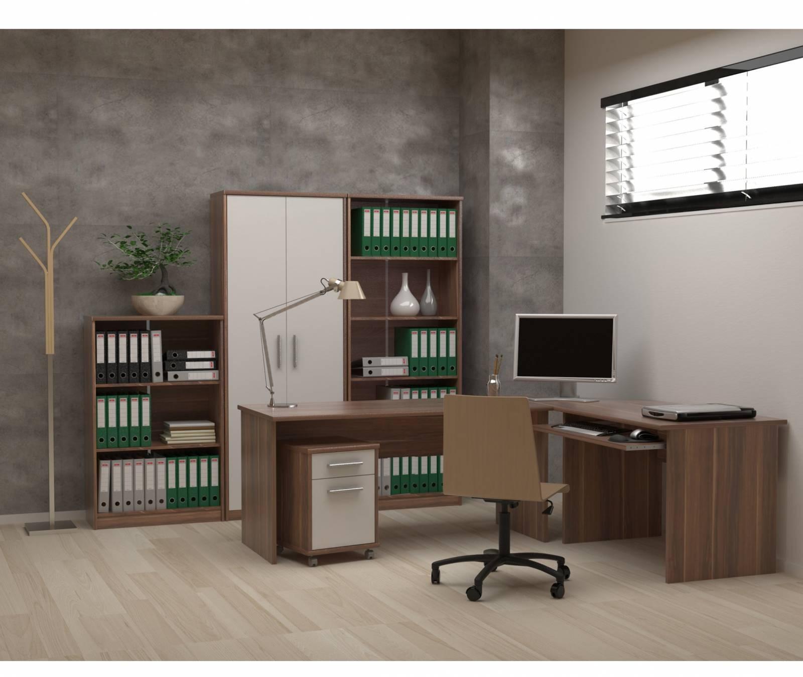Mobilier de birou Johan New - Prun/Alb