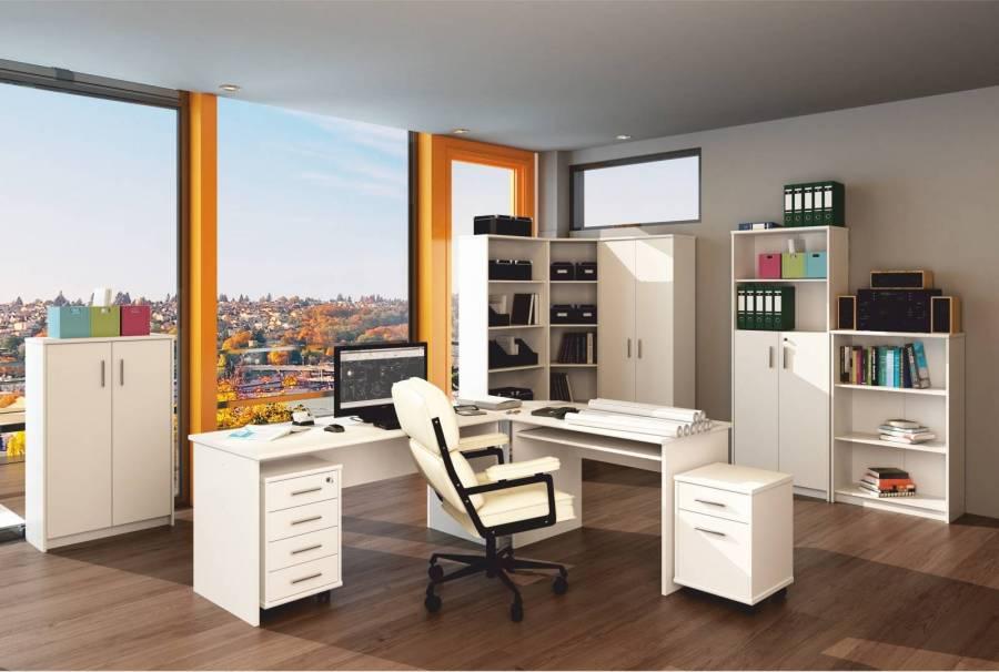 Mobilier de birou Johan New - Alb