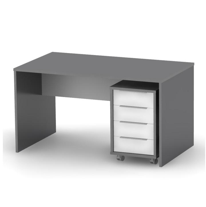 Mobilier de birou Rioma - Grafit / alb
