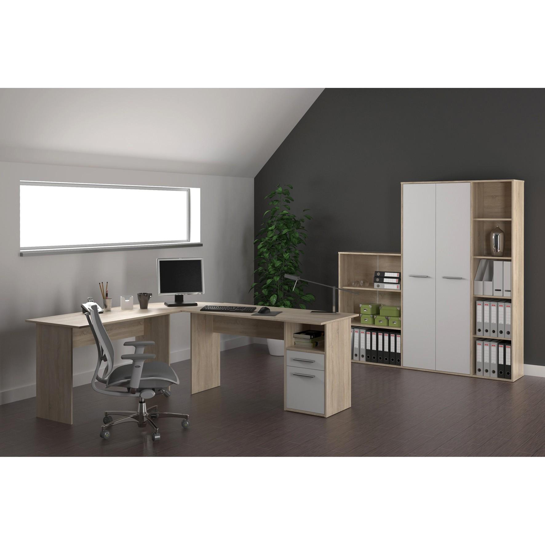 Mobilier de birou Maurus New - Sonoma / alb
