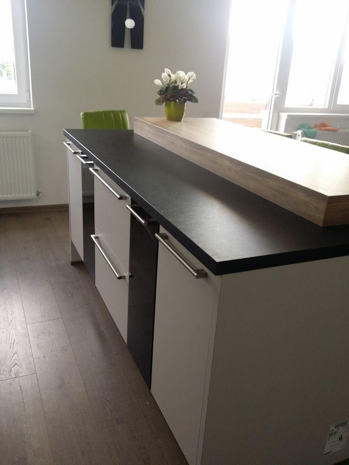 Referință - Bucătărie modernă Nobilia Touch - Satin gri / Negru