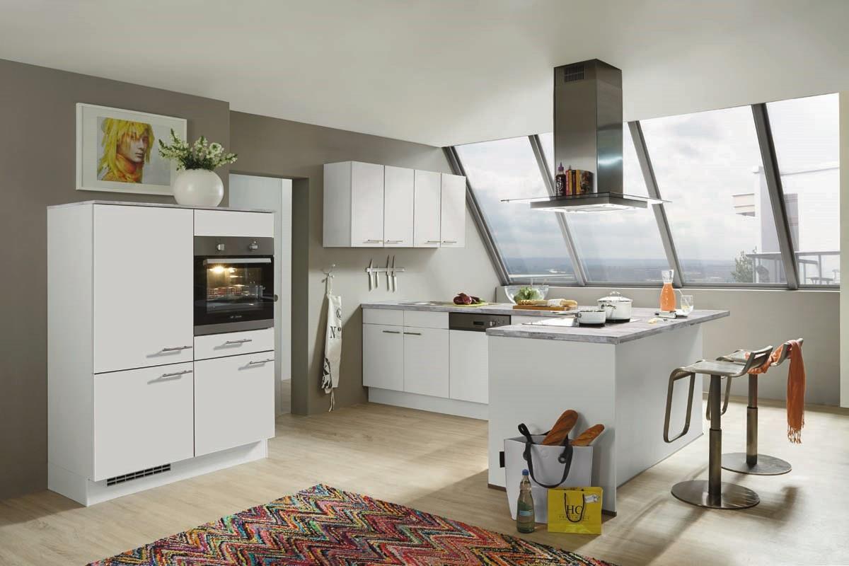 Mobilă de bucătărie modernă Nobilia Speed - Alb alpin