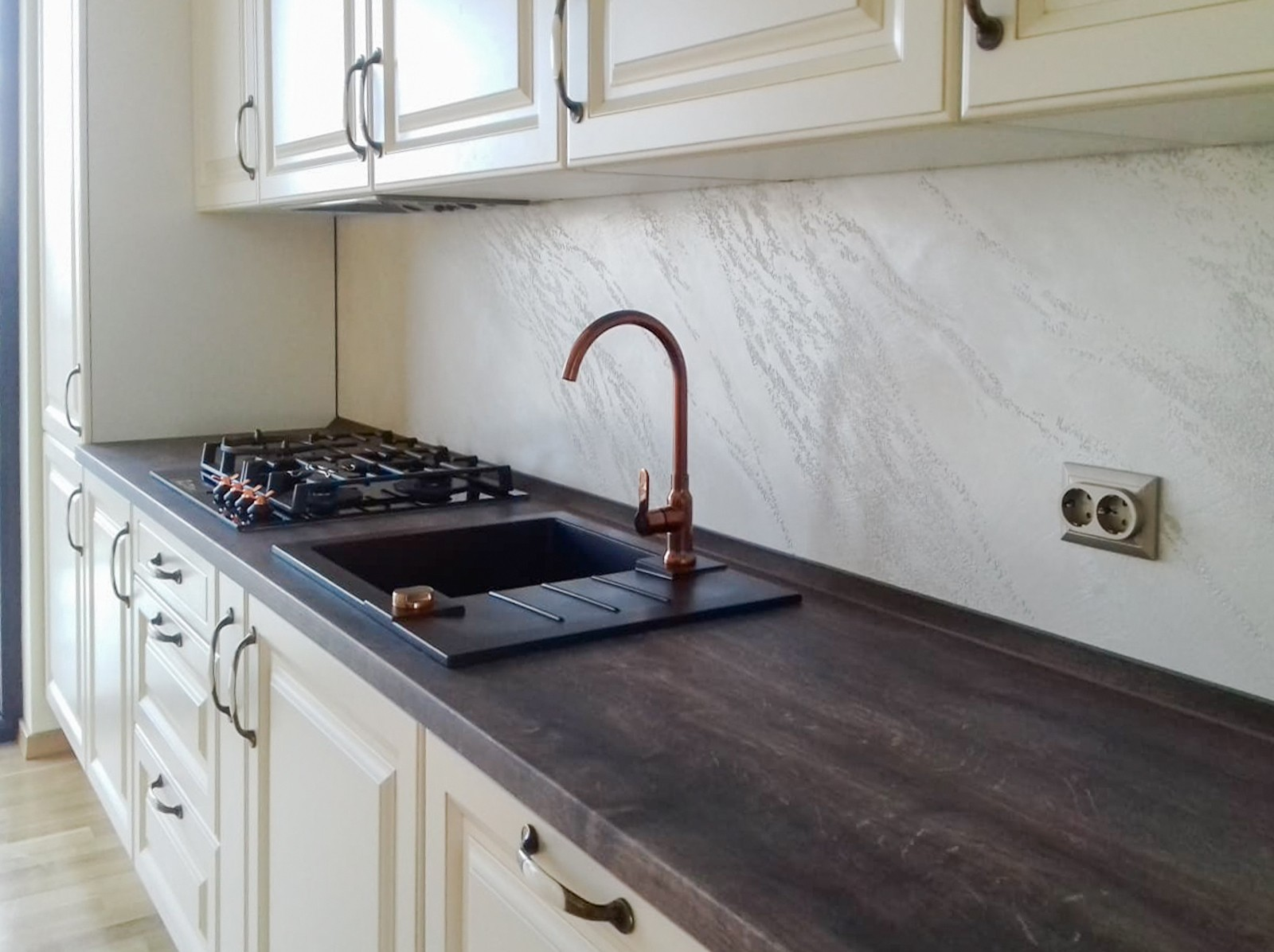 Referință - Bucătărie clasică Nobilia Castello - Crem antichizat / Stejar stem