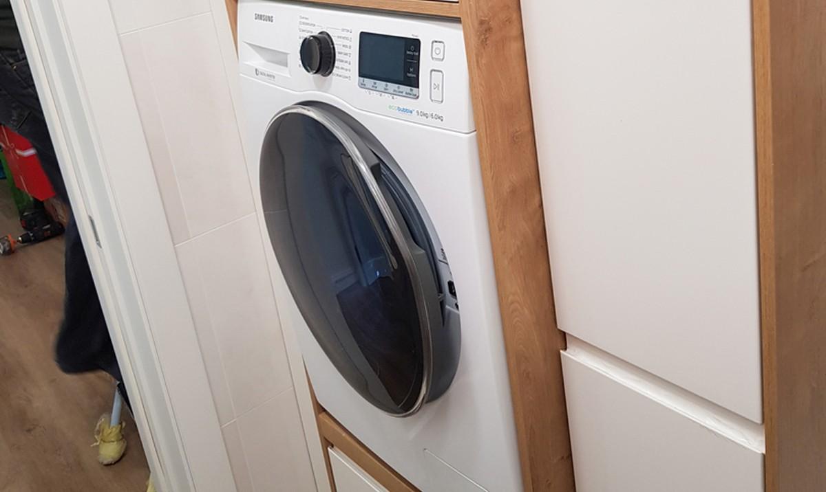 Referință - Dulap mașina de spălat Nobilia Pura - Alb alpin
