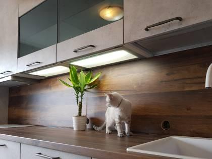 Referință - Bucătărie modernă Nobilia Speed - Gri Ceramic / Stejar Timber