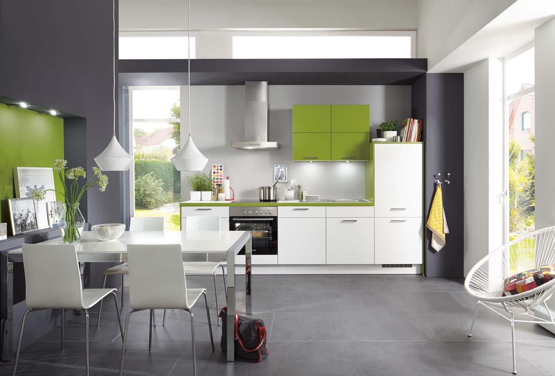 Mobilă de bucătărie modernă Nobilia Laser - Alb alpin