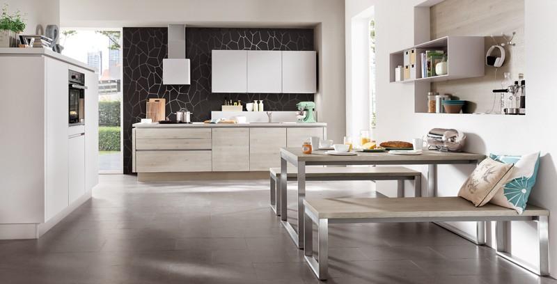 Mobilă de bucătărie modernă Nobilia Laser - Satin gri