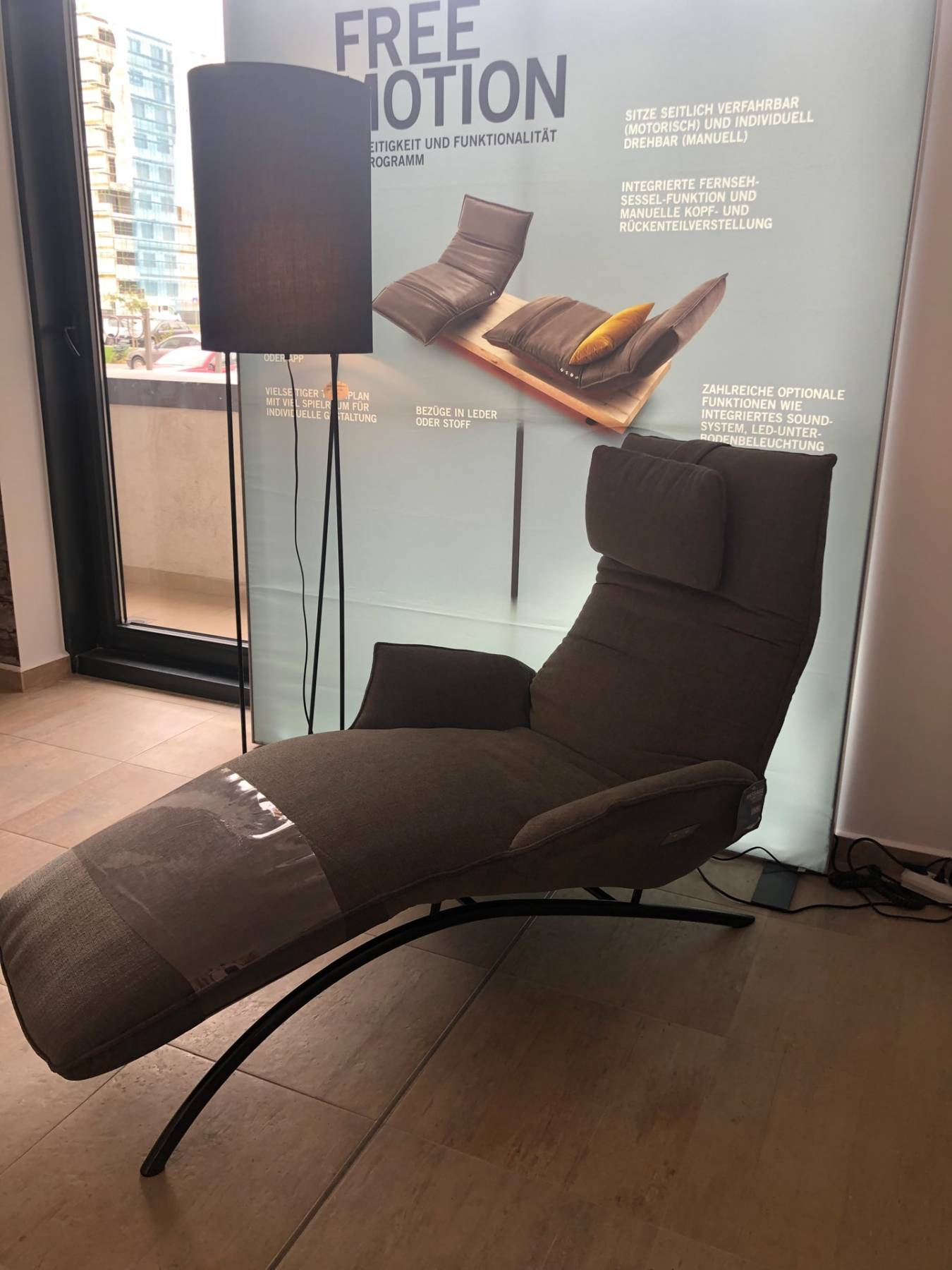 Lichidare - Fotoliu recliner cu masaj Koinor Joleen, gri închis