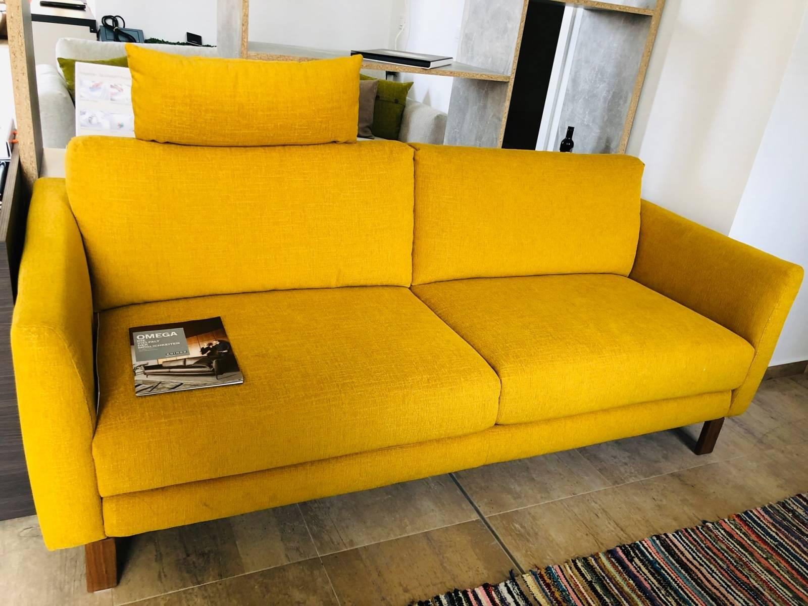 Lichidare - Canapea galbenă Koinor Omega 2