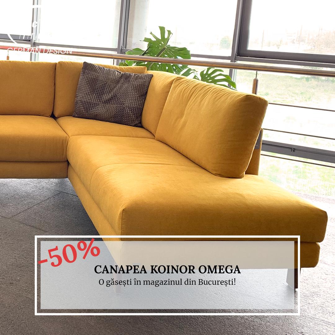 Lichidare - Canapea galbenă Koinor Omega