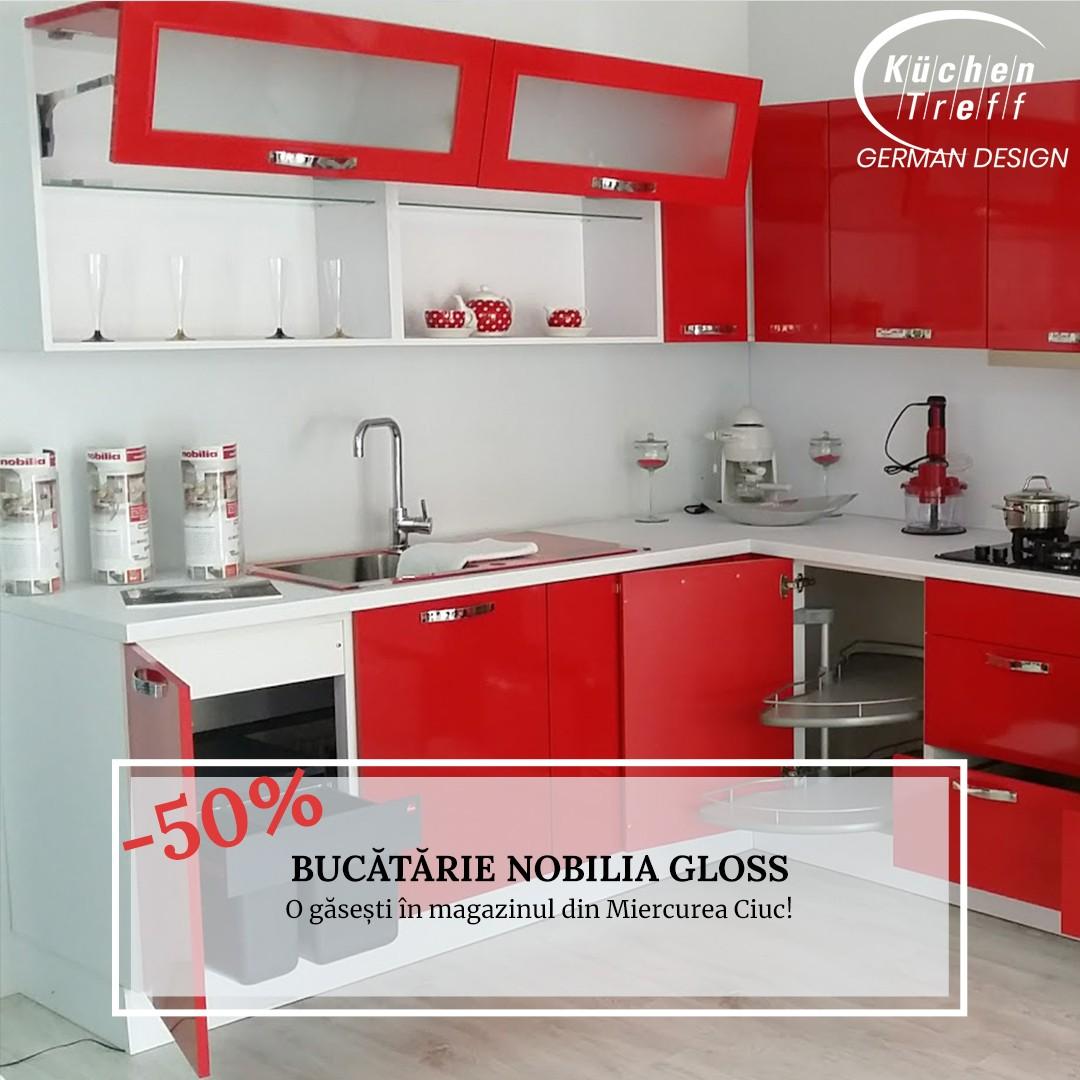 Lichidare - Mobilă de bucătărie Nobilia Gloss