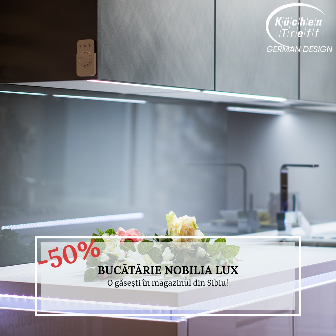 Lichidare - Mobilă de bucătărie Nobilia Lux - Alb Alpin