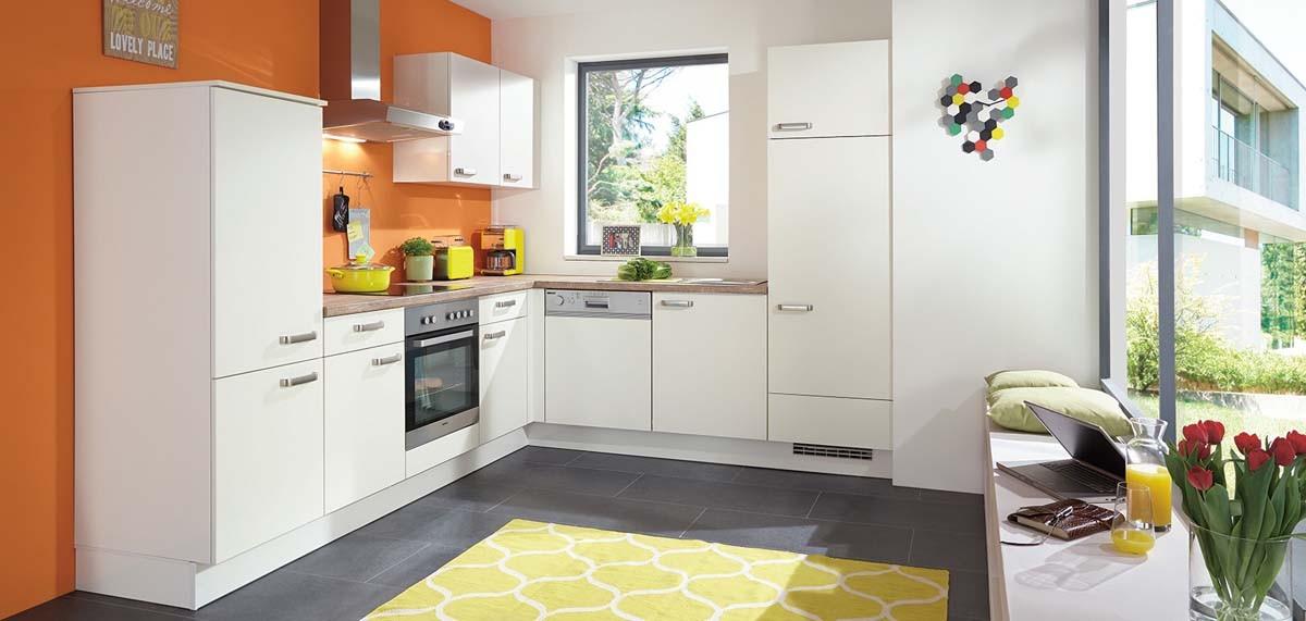 Mobilă de bucătărie modernă Nobilia Speed - Crem, bej mat
