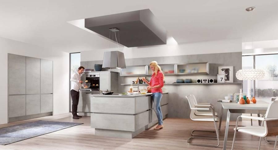 Mobilă de bucătărie modernă Nobilia Riva - Beton gri