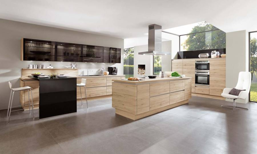 Mobilă de bucătărie modernă Nobilia Riva - Stejar Sanremo