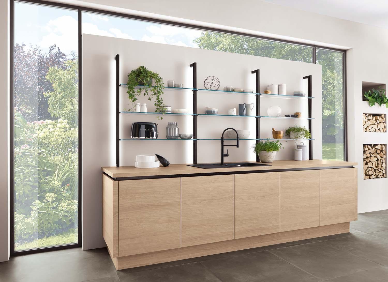 Mobilă de bucătărie modernă Nobilia Riva - Stejar Somerset