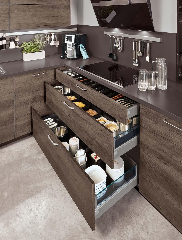 Mobilă de bucătărie modernă Nobilia Riva - Stejar Dakota