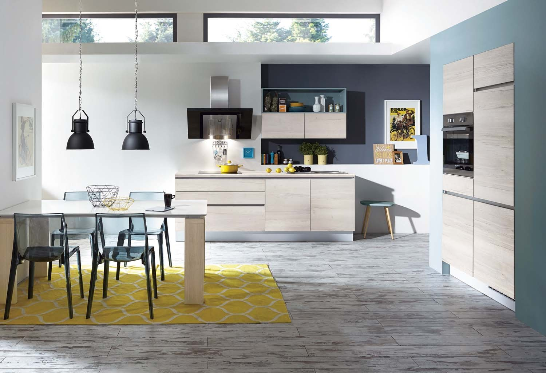 Mobilă de bucătărie modernă Nobilia Structura - Stejar Sherwood