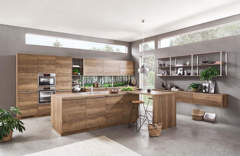 Mobilă de bucătărie modernă Nobilia Structura - Stejar Havana
