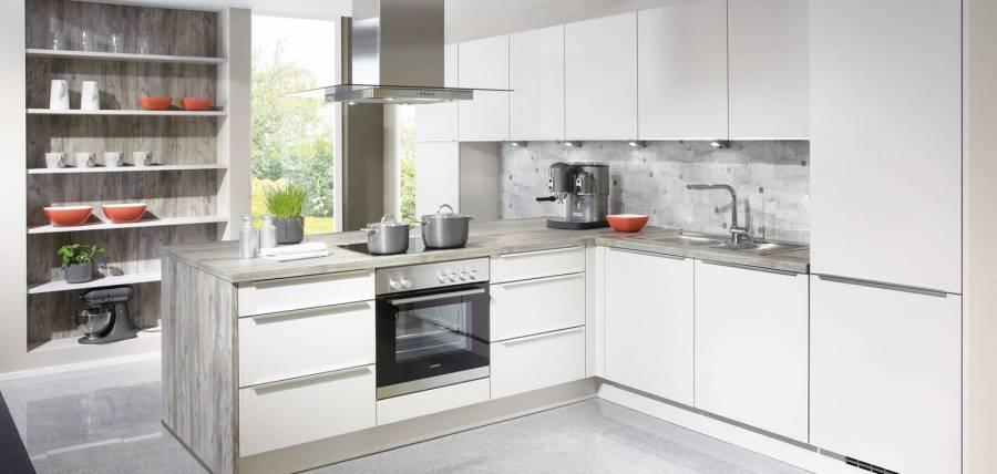 Mobilă de bucătărie modernă Nobilia Speed - Satin gri