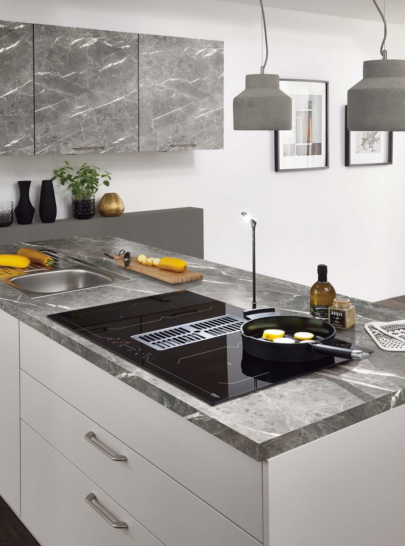 Mobilă de bucătărie modernă Nobilia Touch - Satin gri mat