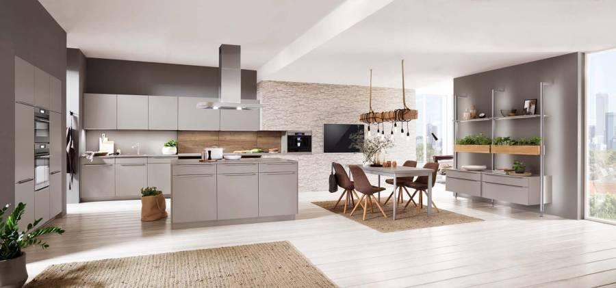Mobilă de bucătărie modernă Nobilia Touch - Gri piatră mat