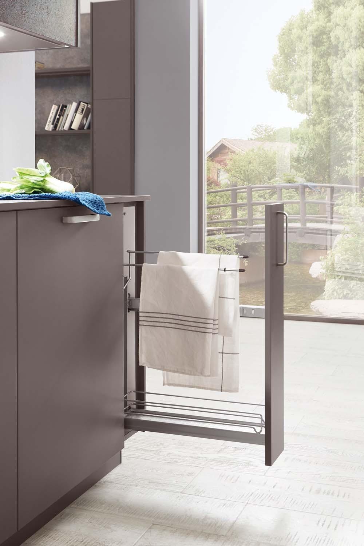 Mobilă de bucătărie modernă Nobilia Touch - Gri ardezie mat