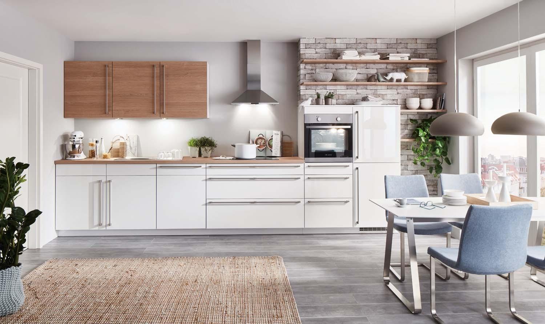 Mobilă de bucătărie modernă Nobilia Flash - Alb alpin lucios