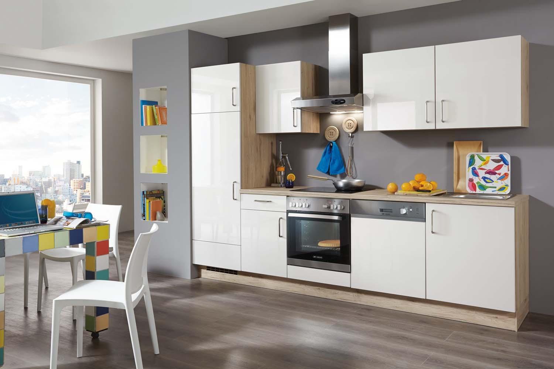 Mobilă de bucătărie modernă Nobilia Flash - Alb lucios