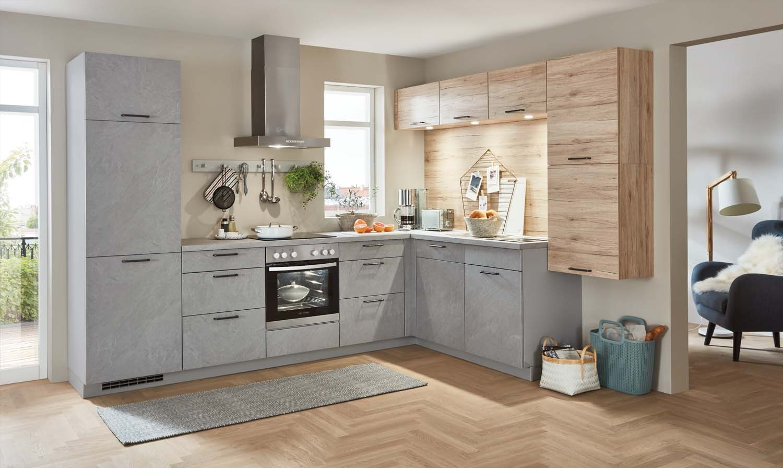 Mobilă de bucătărie modernă Nobilia Stoneart - Ardezie gri piatră