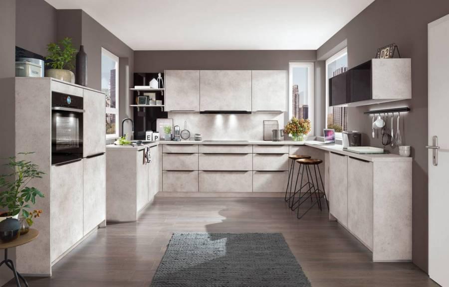 Mobilă de bucătărie modernă Nobilia Speed - Gri Ceramic