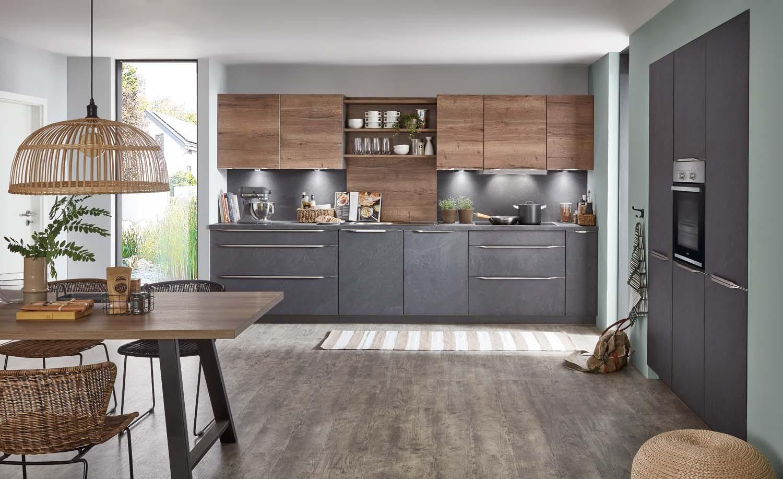 Mobilă de bucătărie modernă Nobilia Stoneart - Ardezie gri