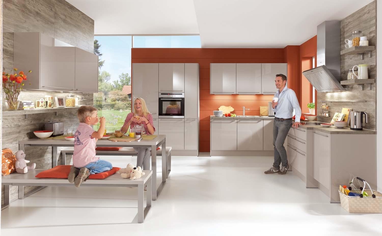 Mobilă de bucătărie modernă Nobilia Focus - Nisip ultra lucios