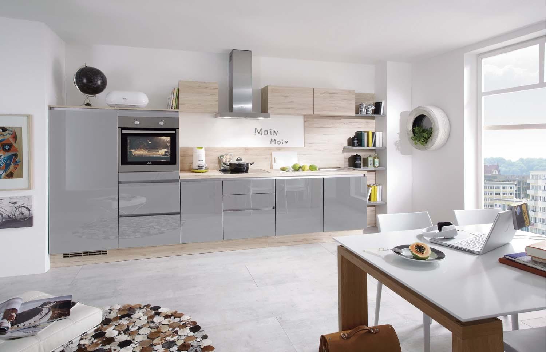Mobilă de bucătărie modernă Nobilia Focus - Gri mineral ultra lucios