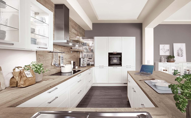 Mobilă de bucătărie clasică Nobilia Credo - Alb alpin