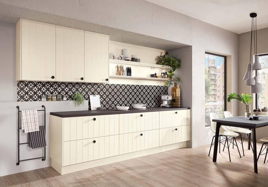 Mobilă de bucătărie rustică Nobilia Flair - Crem, bej mat