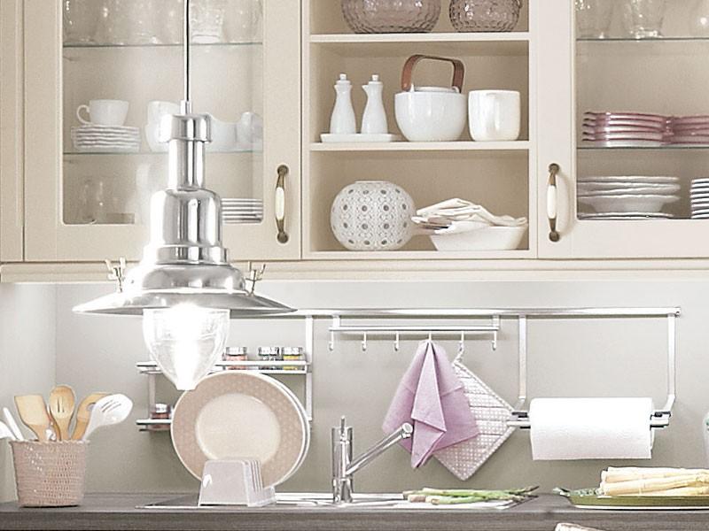 Mobilă de bucătărie rustică Nobilia Lucca - Crem, bej mat